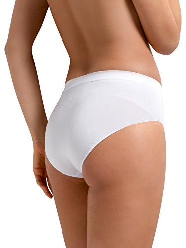ed Modellante MUTANDE donna Sensì Italy traspirante L Shapewear in XL ECO Contenitiva Snellente SLIP S bianco Bianco M Naturale Senza Cuciture nero antibatterico filato naturale Made qwIzFO5