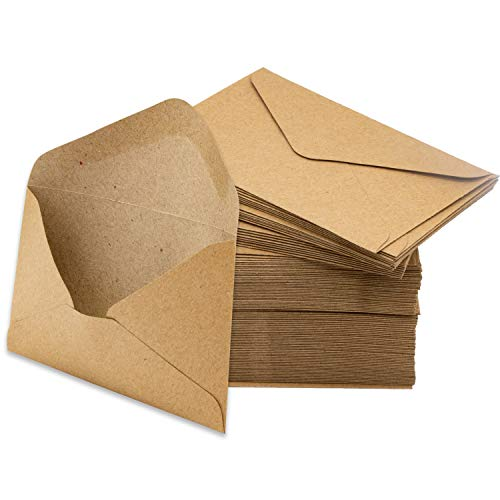 Mini Envelopes Kraft 200 Pk Small 4.125
