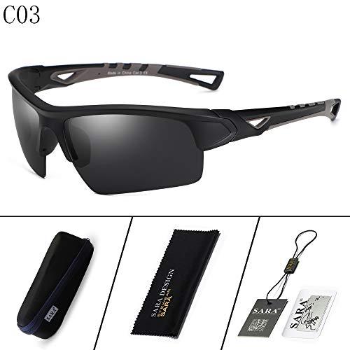 nbsp;Outdoor 2 Black Hombre nbsp; Mirror nbsp;Goggles nbsp; black de Sol sunglasses Riding polarizadas Deportivas Gafas Gafas Sports Mjia nqZpUaBxzw