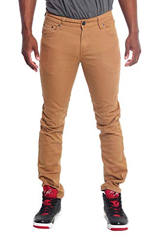 Victorious Men's Skinny Fit Color Stretch Jeans DL937 - Wheat - 28/30