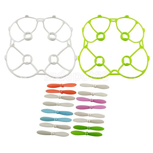 Mini CW/CCW Propeller w/ 2pcs Prop Guard for RC Quadcopter Helicopter Parts by uptogethertek