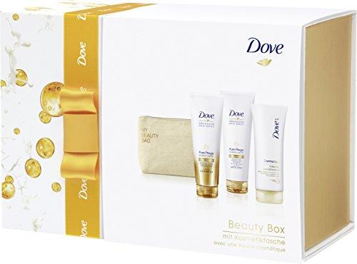 Dove DermaSpa Geschenkset intensiv verwöhnend³ & Advanced Hair Series mit Kosmetiktasche, 1er Pack