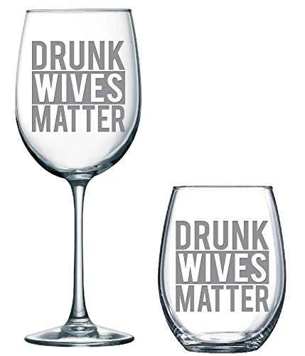 Amazoncom Drunk Wives Wine Glass Humor Classy Sassy And A Bit