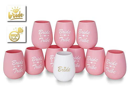 Bride Tribe Cups with BONUS Bachelorette Game for Bachelorette Party Drink If Game Naughty And Nice Versions 16oz Cups