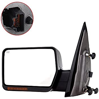 Towing Mirror for 2004-06 Ford F-150 Rear View Mirror Automotive Exterior Mirror with Power Heated Front LED Signals (Driver Side)