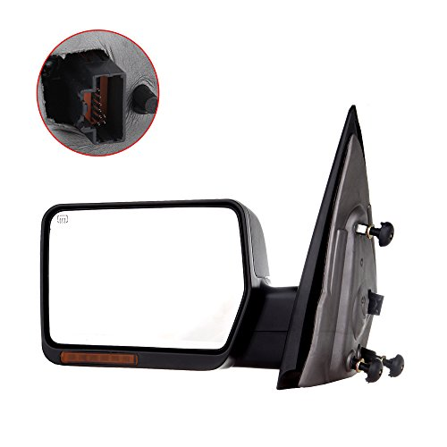 (Towing Mirror For 2004-06 Ford F-150 Rear View Mirror Automotive Exterior Mirrors with Power Heated Front LED Signals (Driver Side))