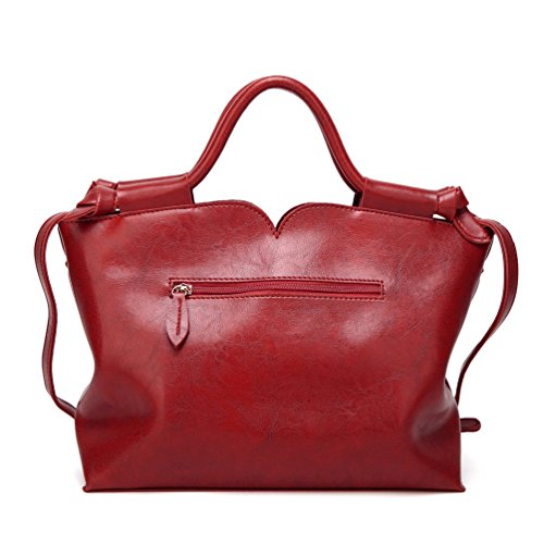 Women's Pu Tote Yilianda Messenger 1 Leather Picture Handbag Bag Vintage As Fashion Shoulder pwa1ad