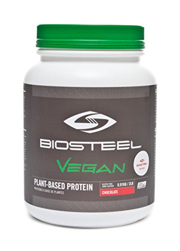 Biosteel Vegan Plant Based Protein - Vegan Protein Powder - Fuels Muscles And Promotes Lean Muscle Growth - Contains Proprietary Blend Of Amino Acids - Gluten Free - Lactose Free - Chocolate- 2 lbs