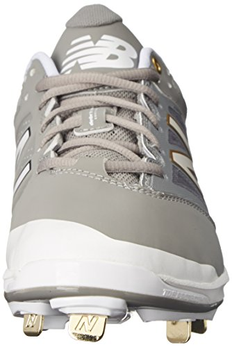 New Balance Mens L4040V3 Cleat Baseball Shoe Grey/White mZn9W