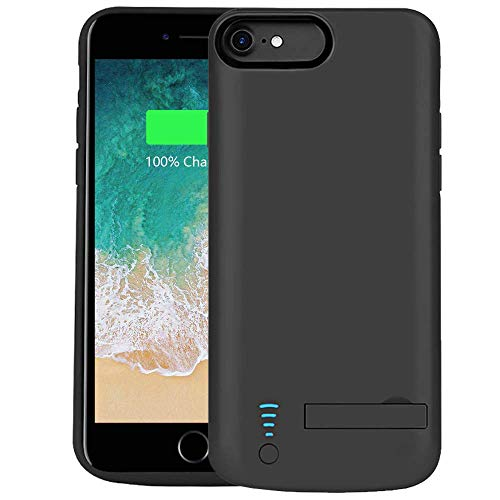RUNSY Battery Case Compatible with iPhone 8 / 7 / 6S / 6, 5500mAh Rechargeable Extended Battery Charging Case, External Battery Charger Case, Adds 2x Extra Juice, Support Wired Headphones (4.7 inch)