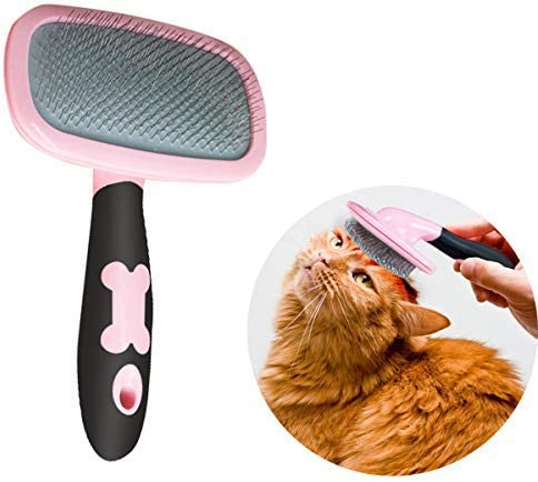 Makerfire Cepillo para Perros de Pelo Largo Pelo Corto, Cepillos para Gatos, 360 Degree Rotation Flexible Slicker Brush for Mascota Rose: Amazon.es: Productos para mascotas