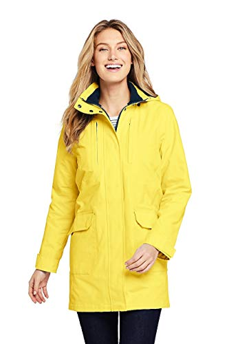 (Lands' End Women's Lightweight Squall Raincoat, XS, Pale Pineapple)