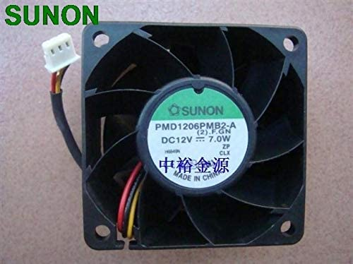 SUNON PMD1206PMB2-A DC12V 7.0W 606038mm chassis dual ball bearings 3wires server inverter cooling fan