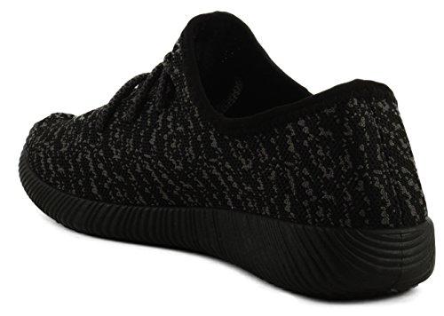 Qupid Nacara-01 Donna Sneakers Stringate In Maglia Nere