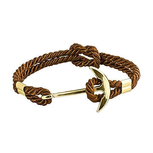 674cd556960a geralin Gioielli Hombre Pulsera de ancla en oro marrón mano Made 60% de  descuento