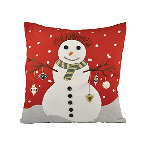 Traditional Décor Collection Snowman 20x20 Pillow by Ben&Jonah