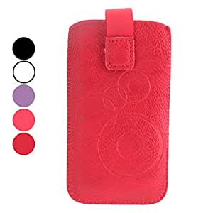 Elegant Protective PU Leather Pouch Case for iPhone 5/5S and iPhone 4 (Assorted Colors) --- COLOR:Purple