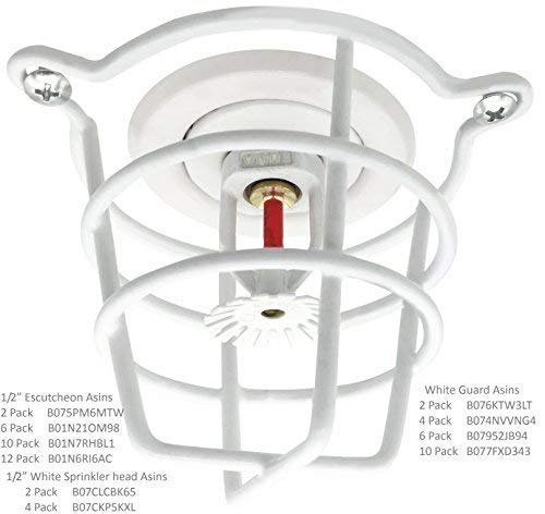 Fire Sprinkler Standard Head Guard For 1//2 Exposed Heads Available In Multiple Colors Chrome
