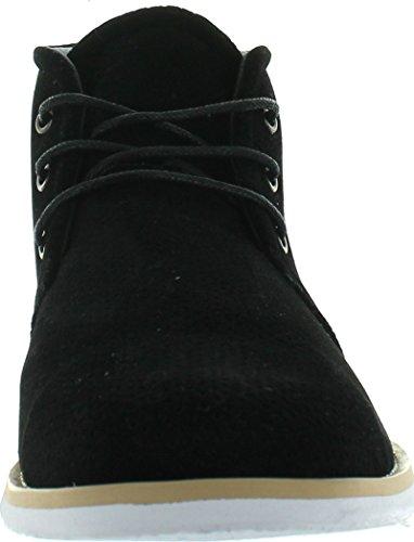 Franco Vanucci Mens Faux-mocka Chukka Boots Svart