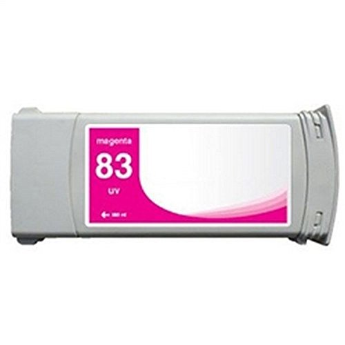Replacement MAGENTA Ink Cartridge for HP 83, C4942A, DesignJet 5000 / 5000 Dye / 5000PS Dye / 5500 / 5500 Dye / 5500 UV / 5500PS / 5500PS Dye (83 Uv Ink)