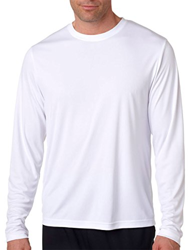 Azul Marino Camiseta Blanca 50 1 Hombre Larga Paquetes Hanes Grande Manga Dri 2 Upf Cool Xx Para 6cnTwdqZTa
