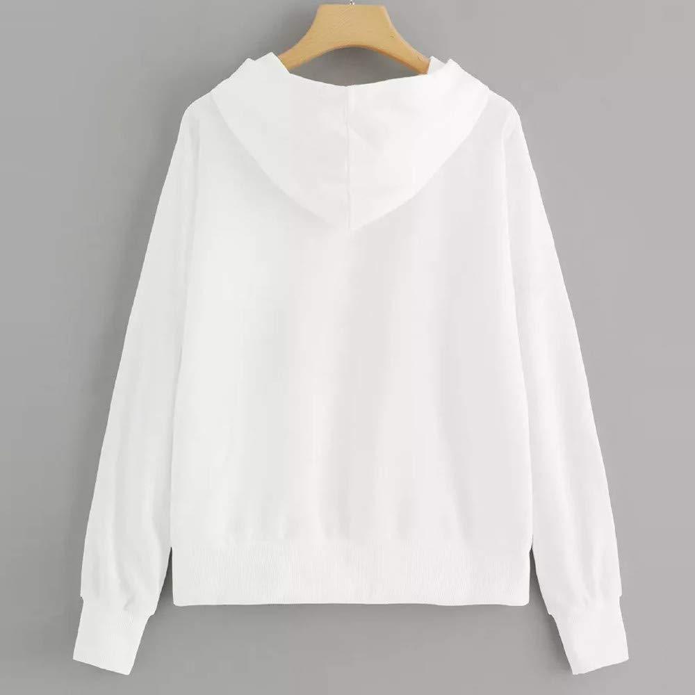 TONSEE Women Casual Drop Shoulder American Flag Print Hoodie Sweatshirt Top Blouse