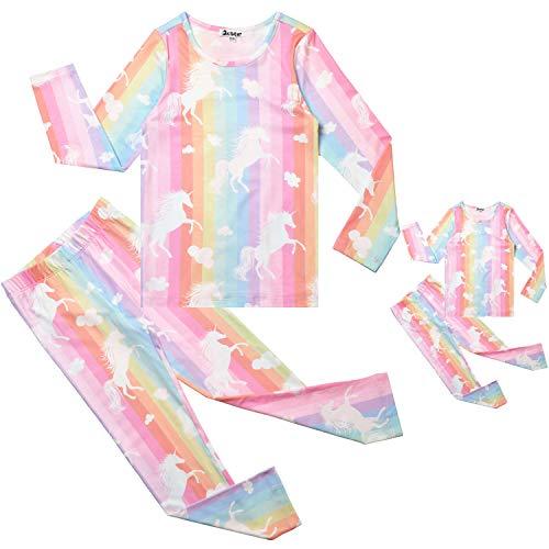 Kids & Toddler Pajamas Matching Doll & Girls Pajamas Pjs Set Fits American Girl