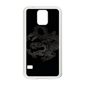 Samsung Galaxy S5 Cell Phone Case White Vintage Dragon QKL How To Make a Cell Phone Case