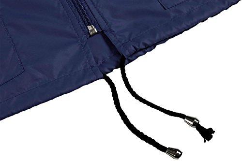 Raincoat Jacket Drying Hiking Front FastDirect Women's Packable Quick Blue Lightweight Zip Hoodie Outdoor Navy vCp6qxg