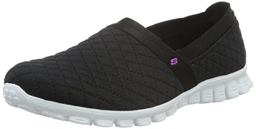 SkechersEz Flex Bank Roll - Zapatillas mujer Negro - Negro y blanco