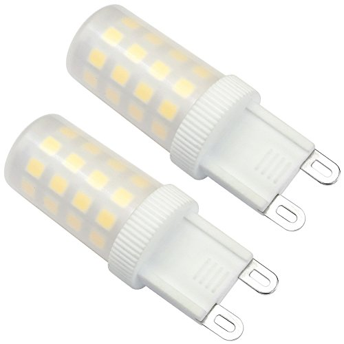 Kakanuo G9 LED Bulb Dimmable 5 Watts Daylight White 6000K 43pcs 2835LEDs AC 110V-130V (Pack of 2) (Small Overhead Microwave Oven compare prices)