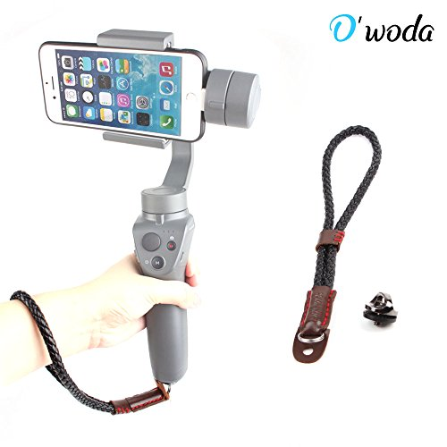 O'woda Wrist Belt Leather Hand Strap Adjustable Lanyard Gimbals Grip Sling with 1/4