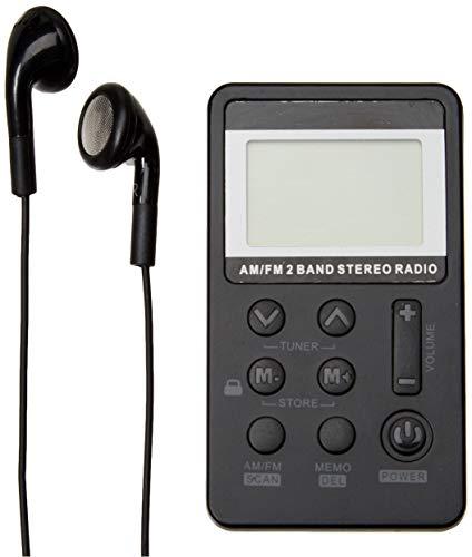 indreamy Radio portátil, sintonización Digital Am/FM Radio Estéreo Portátil con Auriculares para Caminar (FM)
