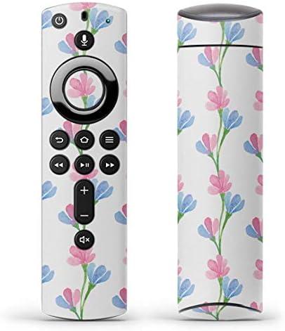 igsticker Fire TV Stick 第2世代 専用 リモコン用 全面 スキンシール フル 背面 側面 正面 ステッカー ケース 保護シール 012733 花 花柄 パステル
