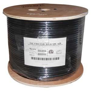 InstallerParts 1000 ft RG6 Quad Shield Coax Cable CMP White, Bare Copper ()