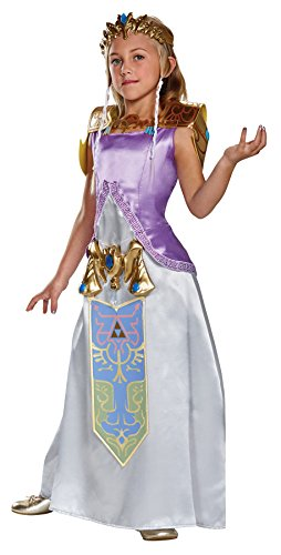 UHC Girl's Deluxe Zelda Outfit Funny Theme Party Kids Halloween Costume, Tween (12-14)