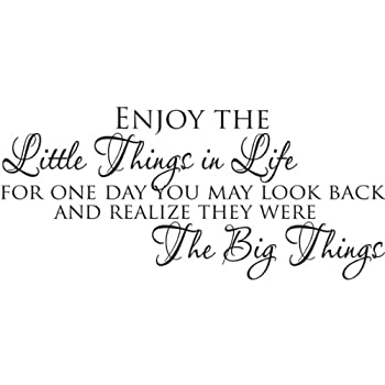 High Quality Enjoy The Little Things In Life Wall Quote Wall Sticker Wall Decals Quotes