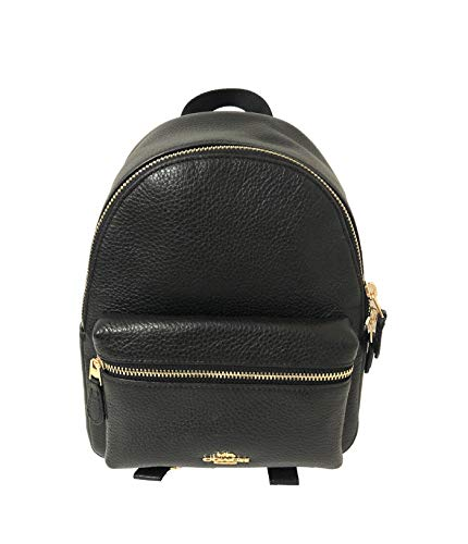 Coach Charlie Pebble Leather Backpack