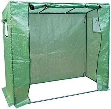 トマト園芸温室、小型 温室 ハウス補強フレーム付き、簡易温室 庭の野菜の苗の場合200x77x169CM