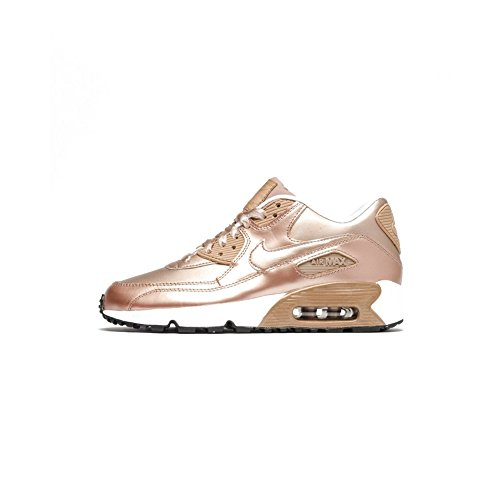 NIKE Air Max 90 SE Big Kids Leather Metallic Red/Bronze 859633-900 (Size: 3.5Y) by NIKE