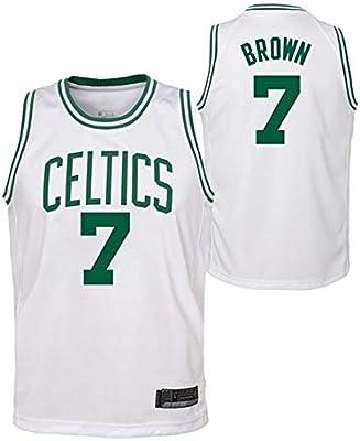 OLIS Hombre Ropa de Baloncesto NBA Boston Celtics 7# Brown Bordado ...