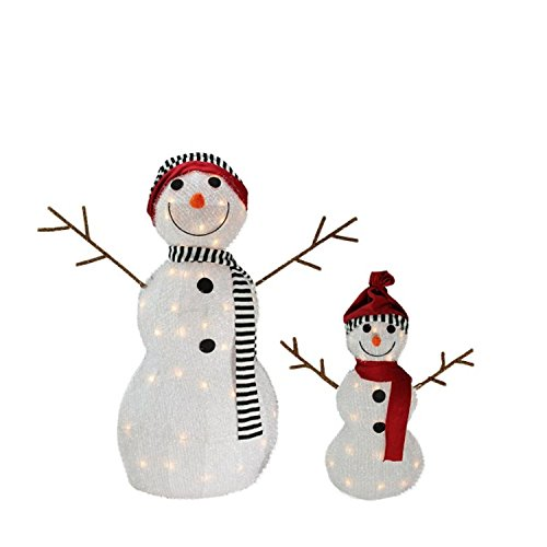 Lighted Snowman Outdoor Christmas Decoration - 8