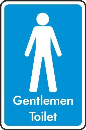 WOOTTON INDUSTRIES LIMITED [UK] 200mmx133mm Gentlemen Toilet Sign (Self Adhesive Sticker) VAT Invoice Supplied.