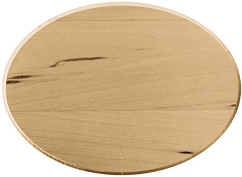 Walnut Hollow Basswood Oval Thin Plaque, 5 by 7-Inch