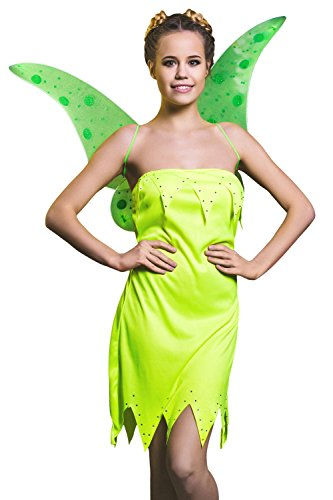 Adult Women Halloween Costume Flower Fairy Pixie Dress Up & Role Play (Small/Medium) (Green Fairy Dress)
