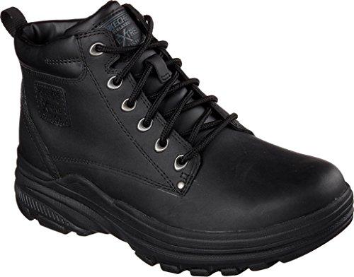 Skechers Botas para hombre, ajuste natural, negro