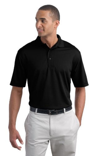 Mens Bamboo Charcoal Polo - Port Authority Men's Poly Bamboo Charcoal Blend Pique Polo XXL Black