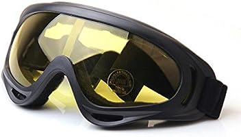 Ehonestbuy Adjustable UV Protective Motorcycle Goggles Anti-Fog Protective Ski Goggles Military Sunglasses Outdoor...
