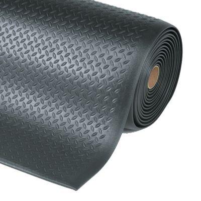 Arbeitsplatzmatte, PVC - Breite 1220 mm, pro lfd. m schwarz - Arbeitsplatzmatte Arbeitsplatzmatten Bodenbelag Bodenschutzmatte
