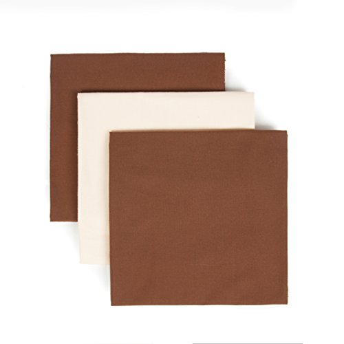 Tadpoles Organics Set of 3 Flannel Receiving Blankets, Chocolate